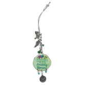 Abbey and CA Gift, Amazing Woman Car Charm, Metal, Green and Silver, 4 inches