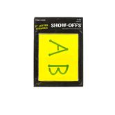 Show-Offs, Upper Case Alphabet Dot Stencils, 2 inch