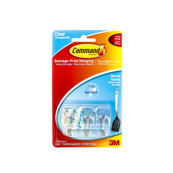Command, Small Wire Hooks, Clear, 3 Pack