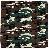 Fashion Bandana, Green Camo Print, Cotton, 22 x 22 Inches, 1 Piece