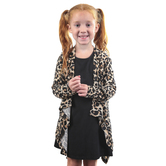 Southern Grace, Grace and Emma, Sophie's Leopard Print Cardigan, Kid's, Tan and Black, Ages 4-10
