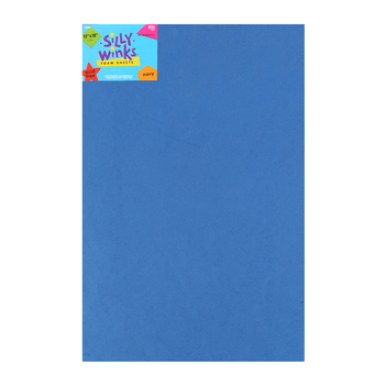 Silly Winks, Thick Foam Sheet, 12 x 18 inches, Navy Blue