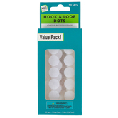 Make A Note, Hook & Loop Industrial Strength Adhesive Dots Value Pack, White, 5/8 Inch, 50 Sets