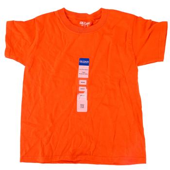 Gildan, Short Sleeve T-Shirt, Orange, Youth Extra Small - Large, Pre-Shrunk Cotton, Youth XS-L
