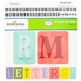 Farmhouse Lane Collection, Block Style Bulletin Board Letters, Uppercase, 4 Inches, 170 Pieces