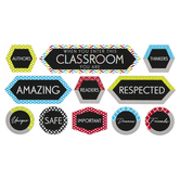 Isabella Collection, When You Enter Motivational Mini Bulletin Board Set, Multi-colored, 11 Pieces