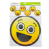Pop Mania Collection, Emoji Jumbo Shaped Cutouts, 10 Inches, 6 Designs, 12 Pieces