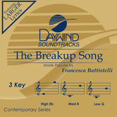 The Breakup Song, Accompaniment Track, As Made Popular by Francesca Battistelli, CD