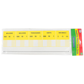 Didax, Desktop Place Value Cards, Set of 10, 15 x 5-Inches, Grades 1-5