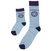 Piero Liventi, Daddy & Me Matching Socks, Superdad & Sidekick, Blue, 2 Pairs