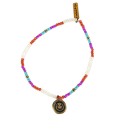 Natural Life, Live Happy Giving Bracelet, Zinc Alloy and Beads, 5 Inches