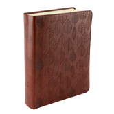 ESV Single Column Journaling Bible, Leaves Design, TruTone, Chestnut