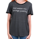 Southern Grace, God Makes All Things Possible, Women's Short Sleeve T-shirt, Black and Gray Stripe, S-2XL