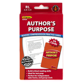 Edupress, Author's Purpose Reading Comprehension Practice Cards-Red Level, 54 Cards, Reading Level 2.0-3.5