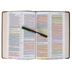 KJV Rainbow Study Bible, Imitation Leather, Brown & Tan