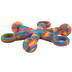 Chewigem, Mild/Moderate Hexichew Fidget Chew Toy, TieDye, for Sensory, Oral Motor, Anxiety, Autism, ADHD, Ages 4 and up