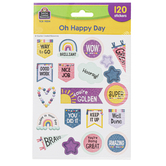 Teacher Created Resources, Oh Happy Day Stickers, 1 Inch, 120 Stickers