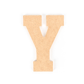 Woodpile Fun, MDF Natural Wood Color Letter - Y, 5 inches, Brown