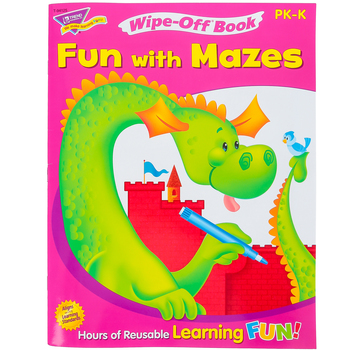 TREND, Fun With Mazes Wipe-Off Book, 27 Pages, Grades PreK-K