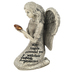 Love and Protection Praying Angel, Resin, Gray, 2 5/8 x 2 3/16 x 3 3/4 inches