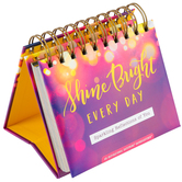 DaySpring, Shine Bright Every Day Perpetual Calendar, Paper, 5 1/2 x 5 1/4 x 1 1/4 inches