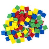 Edx Education, Color Tiles Mini Jar Set 100 Pieces, Multi-Colored, 1-Inch Squares, Grades PreK-8