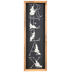 Relax Floral Wall Decor, MDF, Black, 23 3/4 x 7 3/4 x 1 1/2 inches