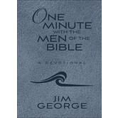 One Minute with the Men of the Bible, by Jim George, Imitation Leather, Blue