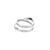 Dicksons, InspiRing, 1 Corinthians 13 Double Mobius, Women's Ring, Silver Plated, Size 6