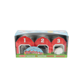 Melissa & Doug, Nesting & Sorting Barns & Animals, Wood, 12 Pieces, Ages 2 to 4 Years Old