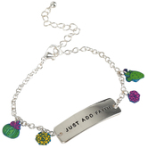 Glitter and Grace, Just Add Faith Charm Bracelet, Green/Pink/Yellow/Silver