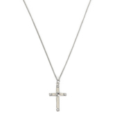 H.J. Sherman, Cross with Star Center Pendant Necklace, Sterling Silver, 18 inches
