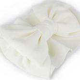Creations of Grace, Baby Bow Fabric Headband, White, 6 1/2 inches, 1 Headband