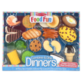 Melissa & Doug, Combine and Dine Dinners Play Set, 18 Pieces, Ages 3 and Older