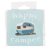 Open Road Brands, Happy Camper Magnet, Blue, 2 1/2 x 2 1/2 inches