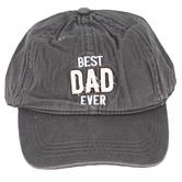 Pavilion Gift, Best Dad Ever Adjustable Hat, Cotton, Dark Gray, One Size Fits Most