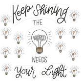 Schoolgirl Style, Simply Stylish Keep Shining Bulletin Board Set, 50 Pieces