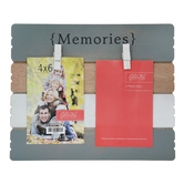 Green Tree Gallery, Memories Photo Clip Board, Wood, Multi-Colored, 4 x 6 inches