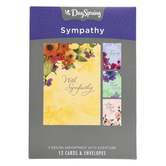 DaySpring, Watercolor Flowers Sympathy Boxed Cards, 12 Cards with Envelopes