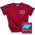 Beautifully Blessed, Joshua 1:9, Be Courageous, Women's Short Sleeve T-Shirt, Crimson, 2X-Large