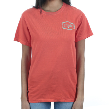 Beautifully Blessed, John 8:36 Set Free, Women's Short Sleeve T-Shirt, Bright Salmon, S-2XL