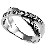 Spirit & Truth, Jeremiah 29:11, I Know, Women's Twin Band Ring, Stainless Steel, Sizes 5-9
