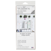 Wallies, Peel and Stick Dry Erase Labels, 4 x 1.9 and 4 x 2.38 Inches, 9 Rectangle Pieces