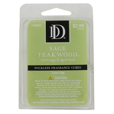 Sage Teakwood Wickless Fragrance Cubes, Green, 2 1/2 ounces