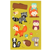 Woodland Tails Collection, Shaped Stickers, Multi-Colored, Pack of 80