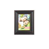 Wide Scoop Frame with Rubbed Edges, 5 x 7 inches, Black