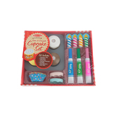 Melissa & Doug, Wooden Bake & Decorate Cupcake Set, Wood, 18 Pieces, Ages 3 to 5 Years Old