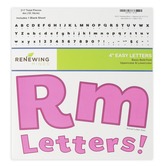 Renewing Minds, Bright Pink Bulletin Board Letters, Upper and Lowercase, 4 Inches, Bright Pink, 217 Pieces