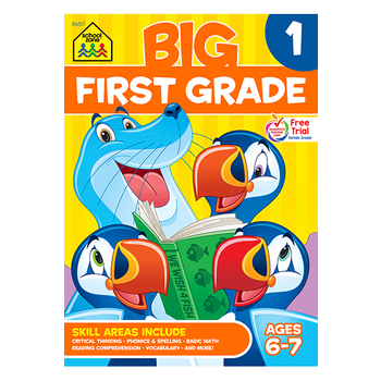 School Zone, Big First Grade Workbook, Paperback, 320 Pages, Ages 6-7