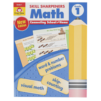 Evan-Moor, Skill Sharpeners Math Activity Book, Paperback, 144 Pages, Grade 1